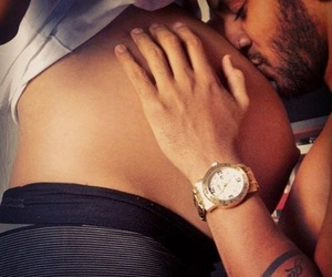 baby, watch, and couple image