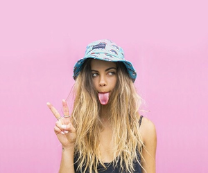 pink, tumblr, and blonde image