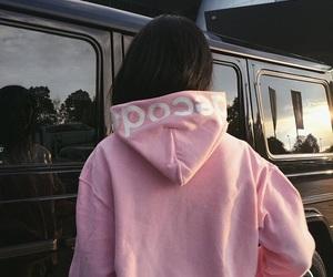 pink, girl, and tumblr image
