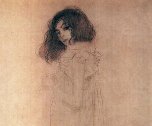 Gustav Klimt, art, and drawing image