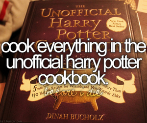 cook, harry potter, and recipe image