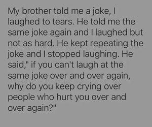 crying, laugh, and sad image
