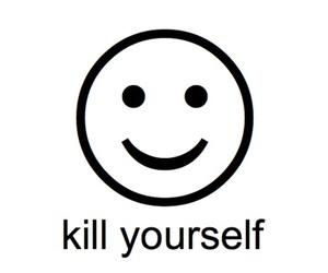 kill, smile, and smiley image