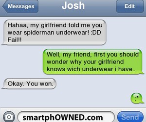 funny, text, and underwear image