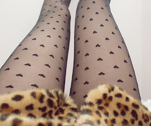 legs, hearts, and tights image