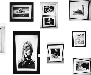 art, black and white, and brigitte bardot image