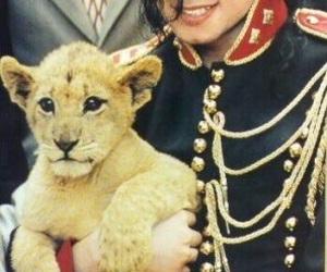 michael jackson, lion, and mj image