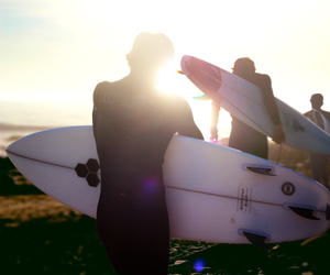 surfer, sea, and surf image