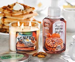 candle, fall, and waffles image
