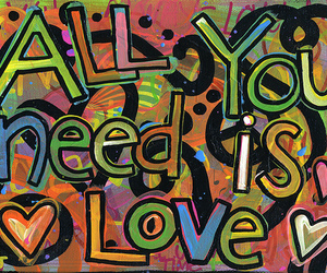 love, all you need is love, and heart image