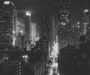 lights, city, and dark image
