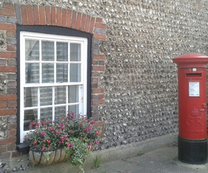 english, postbox, and red image