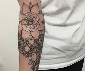 details, flower, and inked image