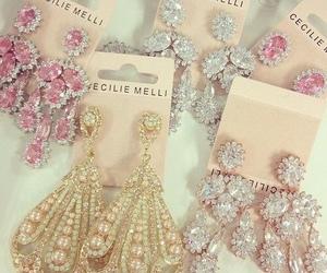earrings, diamond, and jewelry image