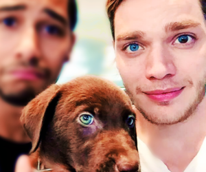 beautiful eyes, blue, and boys image