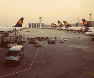 airport, fly, and frankfurt image