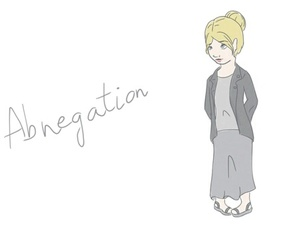 girl, abnegation, and grey image