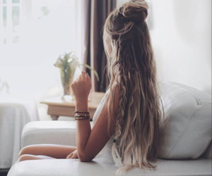 hair style, hair color, and long hair image