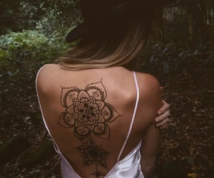 girls, look, and tattoo image