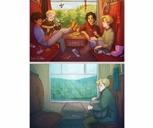 alone, amici, and harry potter image