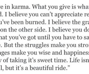 hippie, karma, and quotes image