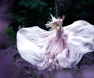 dress, photography, and purple image