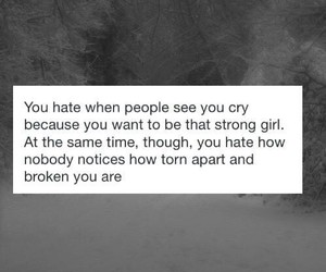 broken, cry, and girl image