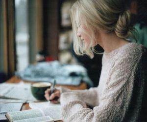 girl, book, and study image