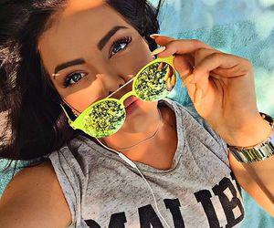 girl, sunglasses, and beautiful image