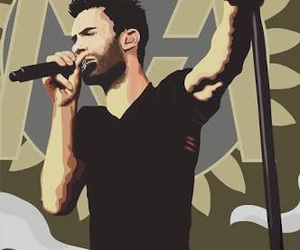 art print, maroon 5, and paint image