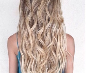 blonde, curly, and girly image