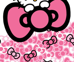 hello kitty, pink, and bow image