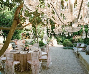 wedding, chandelier, and party image