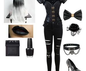 black, fashion, and gothic image