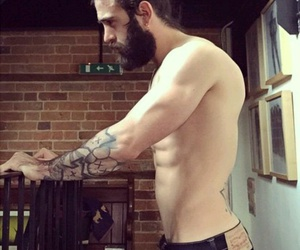 abs, lumberjack, and sexy image
