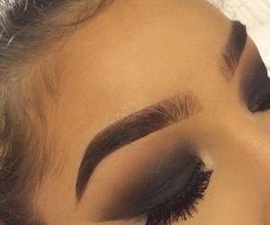 eyebrow, girl, and make up image