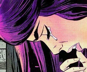 pop art, sad, and cry image