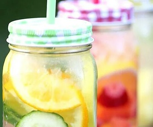 drink, fruit, and water image