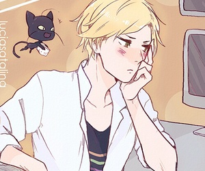 miraculous ladybug, Adrien, and cat noir image