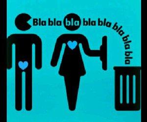 boy, woman, and blah image