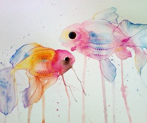 fish, art, and painting image