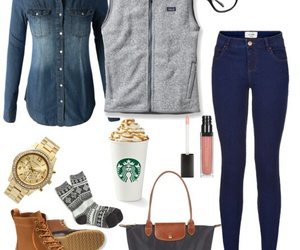 fall, outfit, and ll bean image