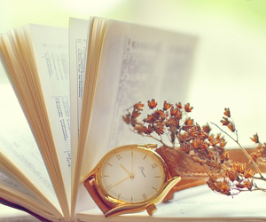 flowers, book, and page image