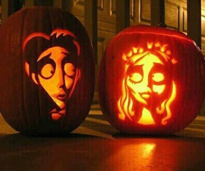 Halloween, pumpkin, and corpse bride image