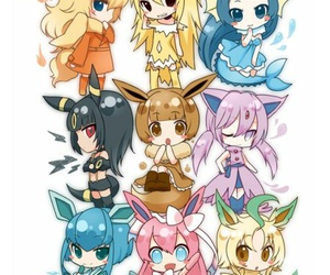pokemon, eevee, and chibi image