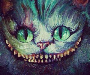 alice in wonderland, eyes, and galaxy image