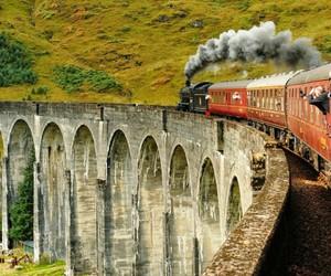 harry potter, train, and hogwarts image
