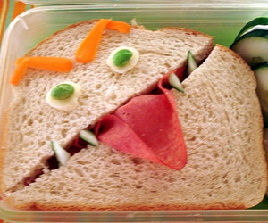 funny and sandwich image