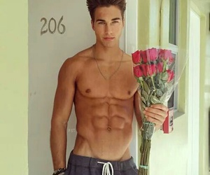 boy, flowers, and Hot image
