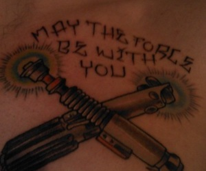 force, star wars, and tattoo image